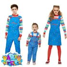Kids Toddler Licensed Chucky Costume Halloween Boys Girls Fancy Dress Outfit