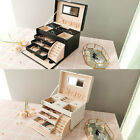 Large Jewellery Box Cabinet Necklace Ring Bracelet Storage Organizer 2 Colour