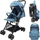 Baby Toddler Pushchair Pram Buggy Foldable Travel Stroller Adjustable Backrest