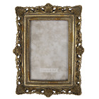 """Vintage Baroque Style Antique Gold Ornate Photo Picture Frame 4""""x6"""" Freestanding"""