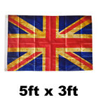 LARGE 5X3FT UNION JACK FLAG RED WHITE BLUE GREAT BRITAIN BRITISH GB SPORT