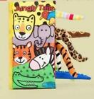 Baby Animal Tails Cloth Book Soft Development Books Educational Toy Cognize Book