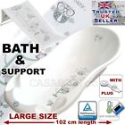 SET LARGE Lux 102cm length Baby Bath Tub +Support seat &THERMOMETHER&Drain-White