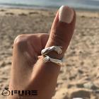 Adjustable Handmade Hug Hands Embrace Engage 925 Sterling Silver Filled Rings