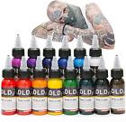 DLD Profession Tattoo Ink 14 Colors Set 1 Oz 30ml/Bottle Tattoo Inks Pigment Kit