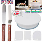"""Cake Decorating Turntable 11""""-24 Icing nozzles-Mould-Pen-Spatula-Bags-Tools Set"""