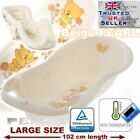 SET LARGE 102cm  BABY BATH TUB with therm. + SUPPORT SEAT chair BEIGE TEDDY