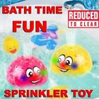 Baby Bath Toys Induction Water Spray Ball LED Sprinkler Whale Bath Toy