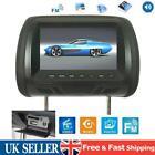 "7"" HD Car Headrest Monitor Video Headrest DVD Rear Seat Multimedia Player USB TV"