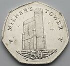 Isle of Man Milner s Tower 50p coin - Circulated