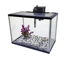 Tropical-Reef 14L Aquarium Glass Fish Tank Starter Kit Home with Filter & Gravel
