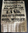 Singleborough 1877 Auction Poster : Pasture Land With House & Accommodation Land