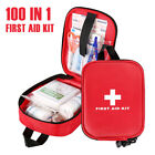 100 PIECE FIRST AID KIT BAG MEDICAL EMERGENCY KIT TRAVEL HOME CAR TAXI WORKPLACE