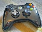 Official Microsoft Xbox 360 Wireless Controller - Limited Edition Black Chrome