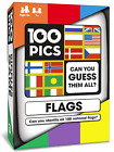 100 PICS Flags of the World Travel Game - Geography Flash Card Quiz, Pocket For