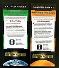 Mission Space Launch Tickets Green and Orange Walt Disney World *Epcot* New!
