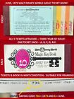 1973 A B C D E Tickets Walt Disney World ALL TICKETS ATTACHED Adult Book NICE Z9