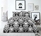 PRINTED DUVET COVER SET 100% EGYPTIAN COTTON QUILT BEDDING SETS DOUBLE KING SIZE