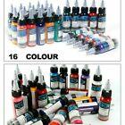 TAttoo Ink 16 Colors Set 1 Oz 30Ml/Bottle Pigment Kit 3D Makeup Beauty Ink M2P1