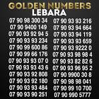 GOLDEN NUMBER BUSINESS EASY MOBILE PHONE NUMBER DIAMOND PLATINUM Lebara SIM CARD