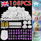 108X Cake Decorating Fondant Sugarcraft Icing Plunger Cutters Tools Mold Mould