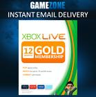 12 MONTH XBOX LIVE GOLD MEMBERSHIP - MICROSOFT XBOX 360 / XBOX ONE - EUROPE - UK