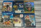 BUNDLE OF 6 3D BLURAYS ICE AGE 4, DESPICABLE ME, RISE OF THE GUARDIANS, HUGO ETC