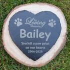 Personalised Dog / Pet Memorial Heart Slate Sign, Plaque, Tombstone Grave Marker