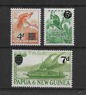 PAPUA NEW GUINEA *1957* compl.set 3 stamps * MNH** Surcharged - Mi. No 24-26