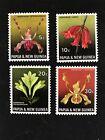 Papua & New Guinea, 1969 Set Of 4 Mnh, Flora Conservation, Orchids