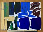 Stained Glass Offcuts Streaky Blue/green, Streaky Mauve, Amber, Iridescent, Etc