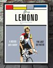 Greg lemond tour de france cycling unframed cycling print