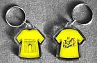 Tour de France t-shirt/jersey keyring Yellow, Polka Dot, Green, White