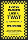 "6 x ""You ve Parked Like a T**t"" Novelty Joke Parking Ticket Stickers"