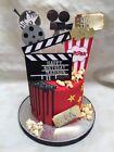Movie Theme Cake Topper Cinema Cake Topper Clapper Board Film Camera Popcorn