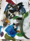 Stained glass scrap bundle job lot offcuts