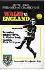 WALES V ENGLAND 8 MAY 1976 0-1 AWAY WIN! NINIAN PARK CARDIFFVGC