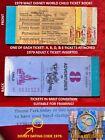 1979 A B C D E Tickets Walt Disney World Authentic CHILD Ticket Book NICE!    A2