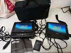 "Technika 7"" Twin Screen Portable In Car  DVD Player PDTSS09"