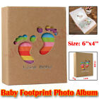 Photo Album 6x4 Baby FootPrint Books Family Memory Albums Holds 100 Pockets UK