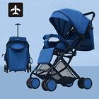 Travel Foldable Baby Trolley Stroller Pushchair Pram Adjustable Toddler Buggy UK