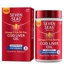 Seven Seas - Gelatine Free - High Strength Cod Liver Oil +Omega-3  -120 Capsules