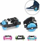 Kids Heel Wheels Roller Skates Attachable With Shoes Trainers Wheels Boys Girls