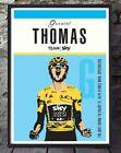 Geraint Thomas a4 size tour de france sky cycling unframed cycling print