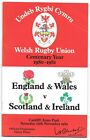 England and Wales v Scotland and Ireland Rugby Programme - Wales Centenary Year