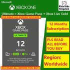 XBOX GAME PASS Ultimate 12 Months Membership LIVE GAMEPASS+GOLD 1 Year
