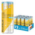 Red Bull Energy Drink Sugar Free Tropical 12 Pack of 250 ml, Sugarfree Yellow