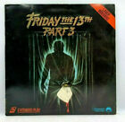 VERY GOOD FRIDAY THE 13TH PART 3 Laser Disc Extended Video RARE HORROR Laserdisc