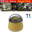 New 1L Foldable Silicone Travel Water Kettle For kitchen/Home Camping Gas Hob UK