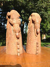 CARVED WOODEN SPIRIT FIGURE BOOKENDS FROM PAPUA NEW GUINEA